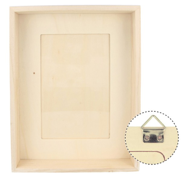 cadre photo profond en bois 16 5 x21 5x4cm photo 10x15cm. Black Bedroom Furniture Sets. Home Design Ideas