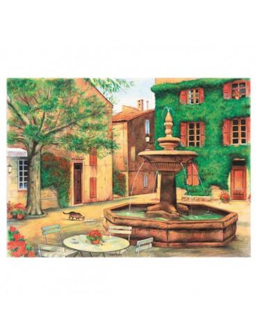 Peinture numéro crayons aquarelle - Place de la Fontaine