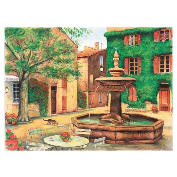 peinture num ro aquarelle place de la fontaine tout creer. Black Bedroom Furniture Sets. Home Design Ideas