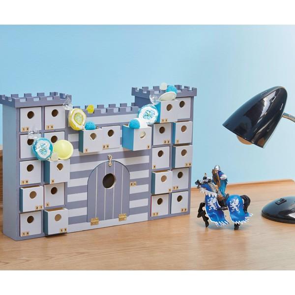 calendrier de l 39 avent en bois chateau fort ou ch teau de. Black Bedroom Furniture Sets. Home Design Ideas