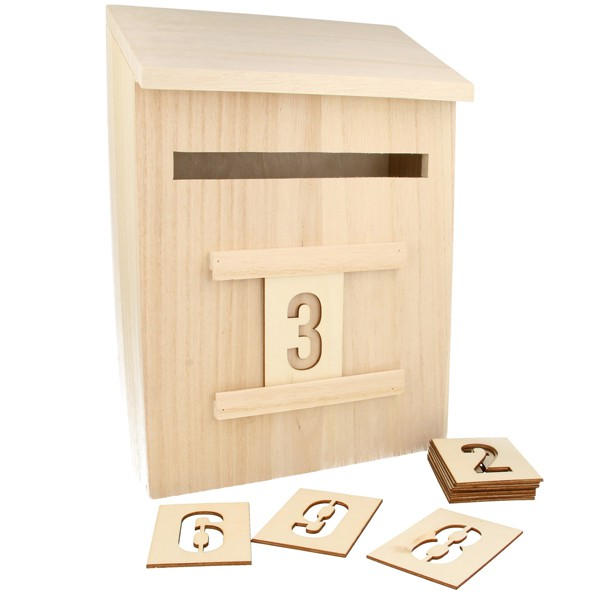 calendrier de l 39 avent en bois boite aux lettres de l. Black Bedroom Furniture Sets. Home Design Ideas