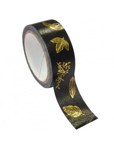 Masking tape noir - Feuille or métal 15mmx10m
