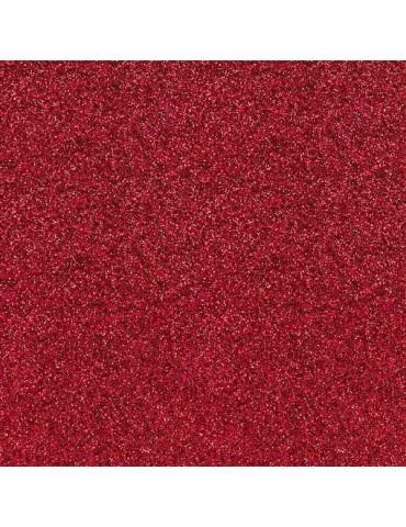 Papier adéhsif Rouge pailleté - 6 feuilles 30x30 - Artemio