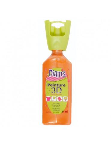 Peinture DIAM'S 3D nacrée orange