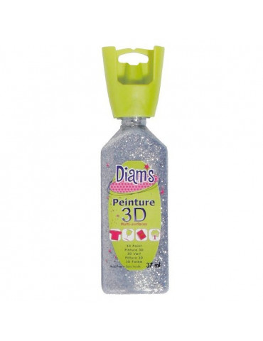 Peinture DIAM'S 3D pailletée argent