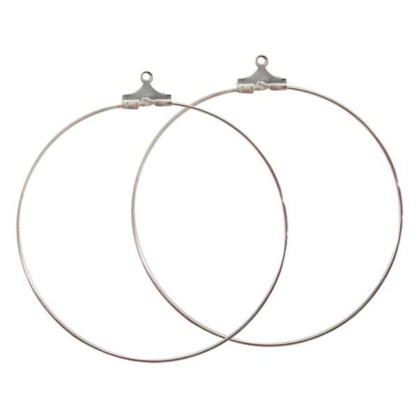 Apprêts bijoux - Boucles d oreilles Créoles Argent 50mm - DTM d89ee114200e