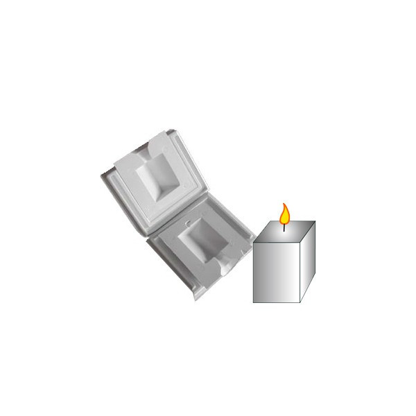 Moule bougie rigide : Cube 8cm