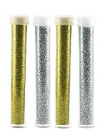 Paillettes diamantines - Or et Argent - 4x 3,5g