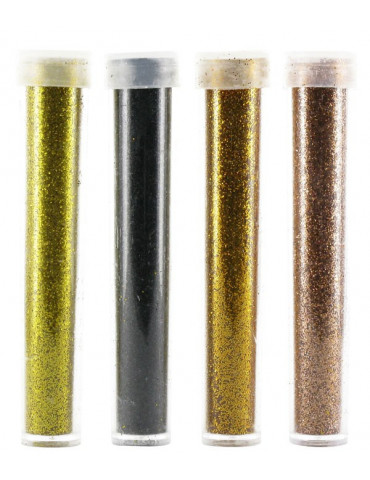 Paillettes diamantines - Or-Noir-Bronze-Cuivre - 4x 3,5g