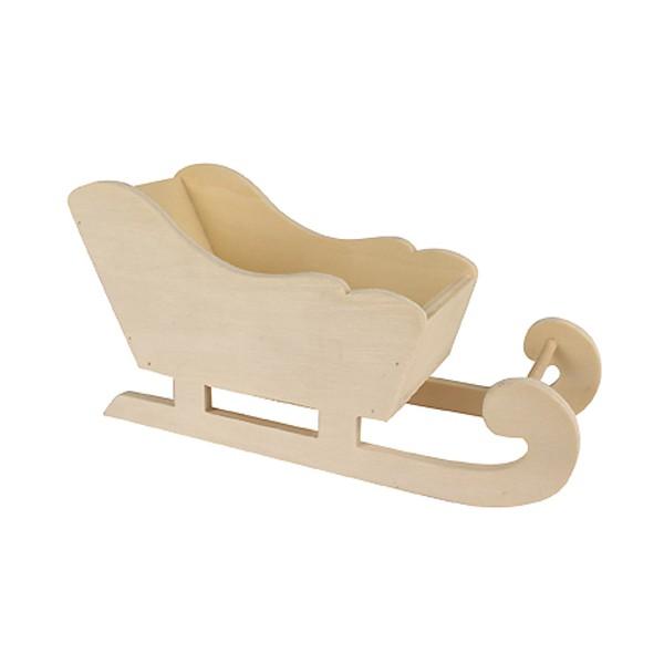 traineau du p re no l en bois poser support d corer 17x8 5x6 5cm ctop. Black Bedroom Furniture Sets. Home Design Ideas