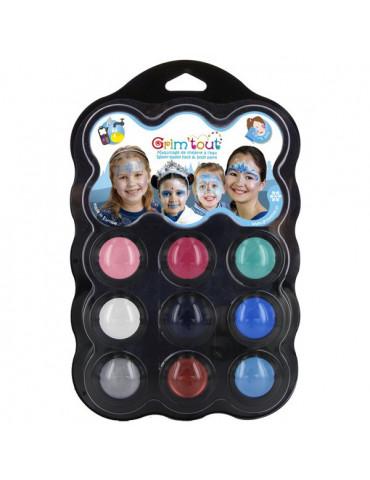 Palette maquillage GRIM'TOUT 9 couleurs - Reine des neiges