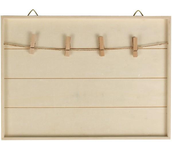 cadre p le m le en bois d corer 30x22cm avec cordelette. Black Bedroom Furniture Sets. Home Design Ideas