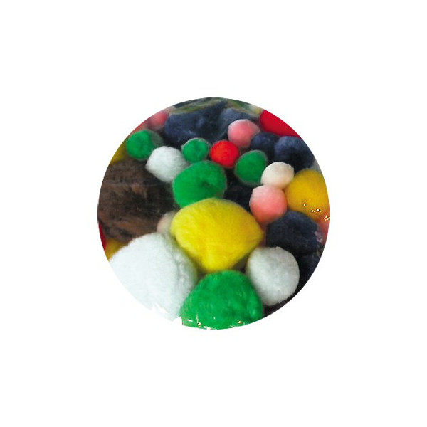 Pompons tailles assorties x 300