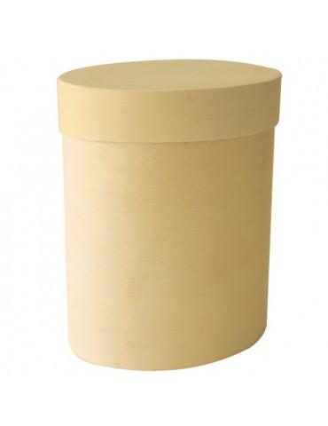Boite ovale en copeaux bois x4 - 6x4,5x3cm