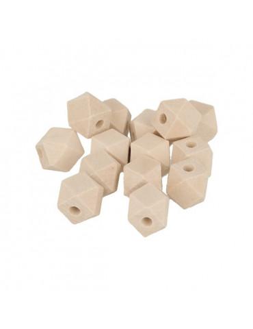Perles bois géométriques 10mm x12