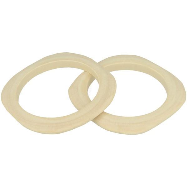 Bracelet plat carré en bois 10mm - Ø 68mm - 2 pcs - Lucy By Artemio