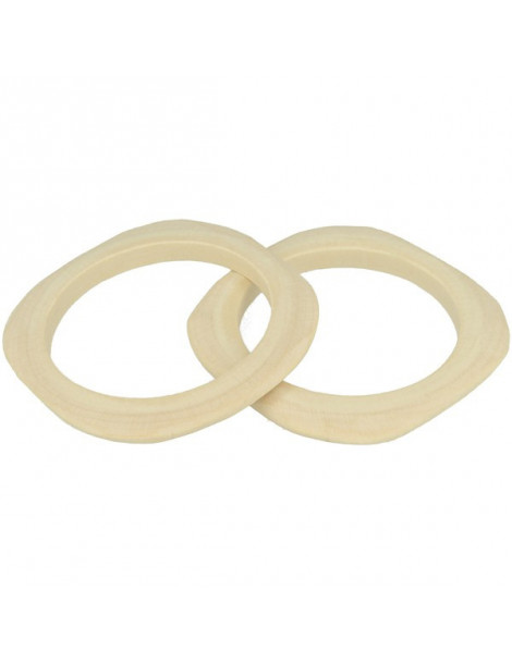 bracelet plat carré en bois 3mm - 2 pcs -  Lucy By Artemio