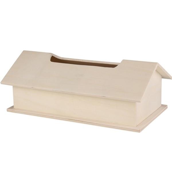 Boite mouchoirs bois forme maison boite d corer for Maison a decorer