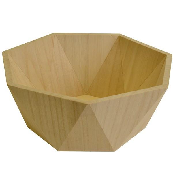 Plat géométrique en bois - 26x26x10,5 cm
