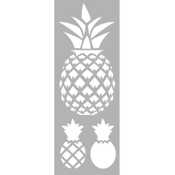 Pochoir Décorartif Ananas 15x40 Cm 3 Ananas Dtm