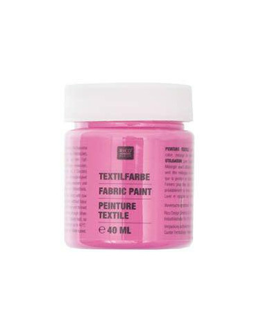 Peinture textile Rouge brillant - 40ml - Rico Design