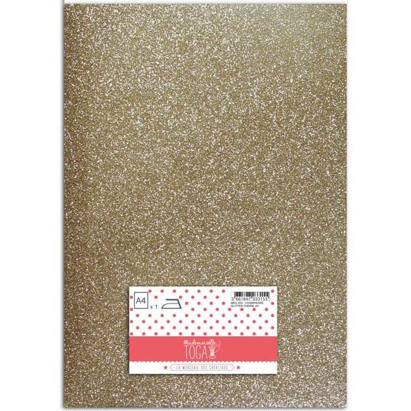 Flex glitter - Tissu thermocollant Champagne - Mlle Toga