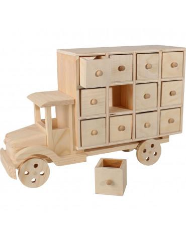 Calendrier de l'avent - Camion en bois 58cm