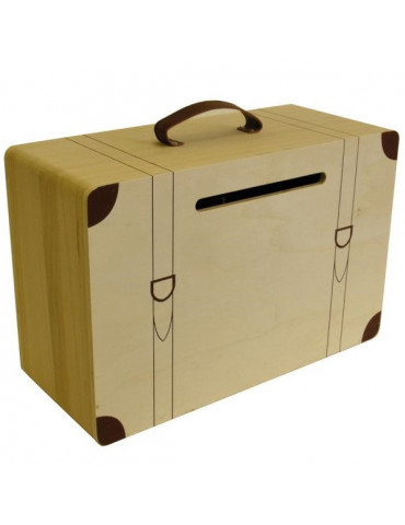 Urne Valise en bois à décorer 23x17 cm