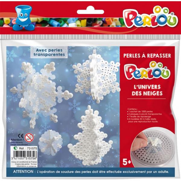 Perlou - Kit perles à repasser L'Univers des neiges - 5 ans+