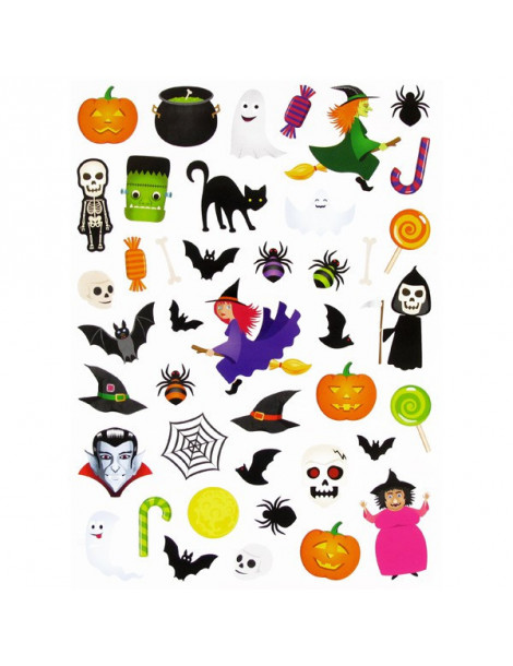 Gommettes stickers Halloween - 44 autocollants