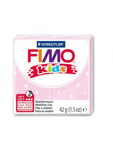 Fimo Kids rose pâle perlé n°206