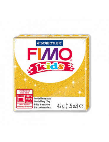 Fimo Kids or pailleté n°112