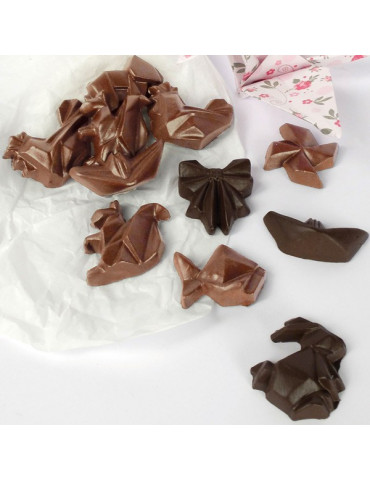 Moule chocolat Pâques - Fritures Origami - Sujets 25mm