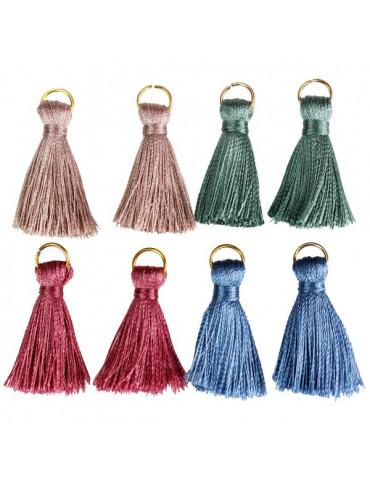 Pompons bijoux 3cm - Poudré - 8 pièces