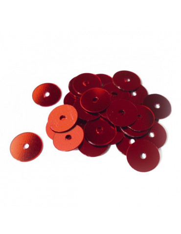 Sequins plats 6mm Rouge - 30g