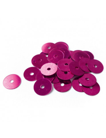 Sequins plats 6mm Rose - 30g