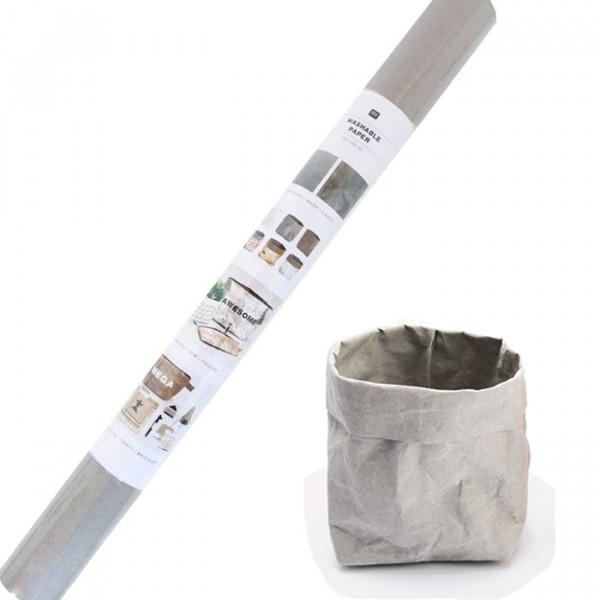 Washable paper Gris - 50x100 cm