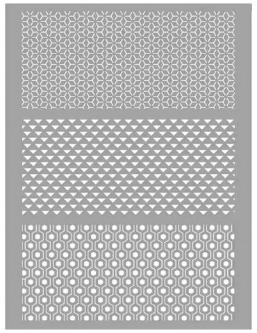 Pochoir pâte polymère - Graphique - Graine Créative