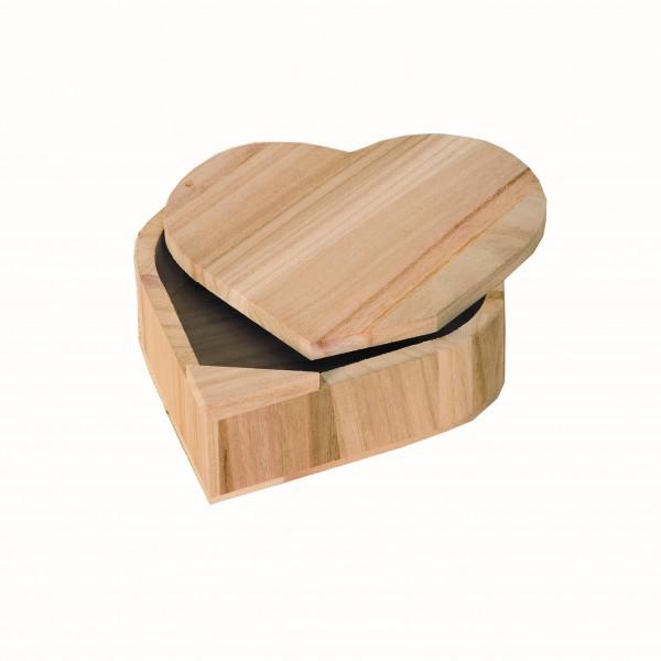 bo te en bois c ur avec couvercle pivotant tout creer. Black Bedroom Furniture Sets. Home Design Ideas