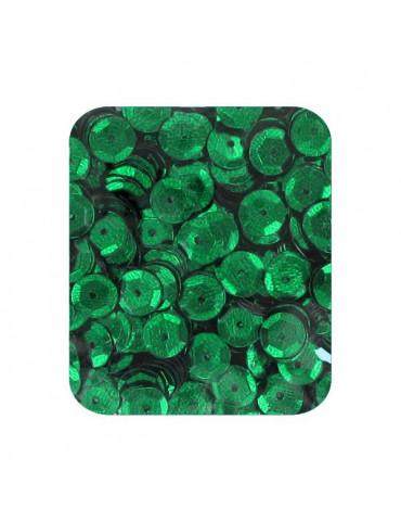 Sequins 6mm vert foncé - 5gr