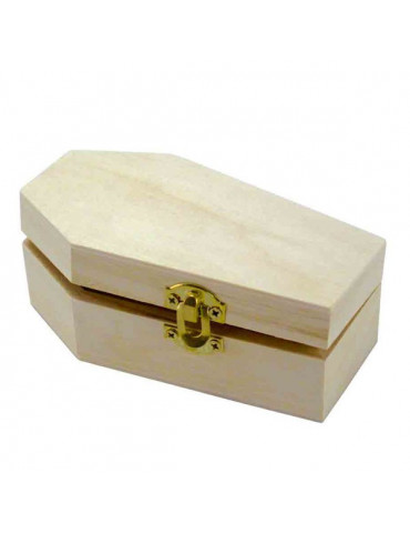 Cerceuil bois 11,5x6,5x4,3 cm