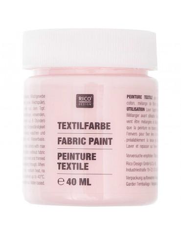 Peinture textile Rose clair - 40ml - Rico Design