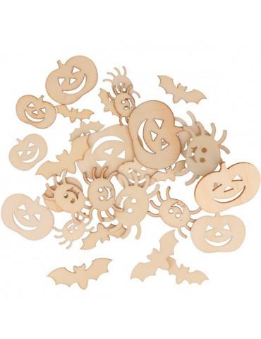 Mini silhouettes bois - Halloween x30 - Artemio