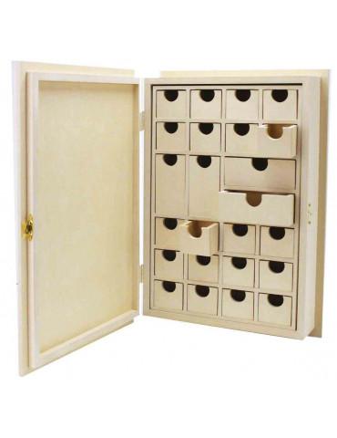 Livre calendrier de l'avent en bois  - 33cm