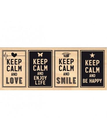 Tampon bois Keep Calm - Florilèges Design