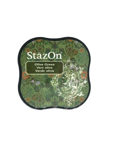 Encre StazOn Midi Vert Olive - Tsukineko