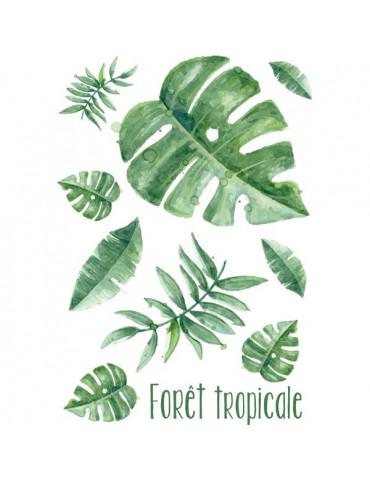 Transferts textile- Feuilles tropicales - Ki Sign