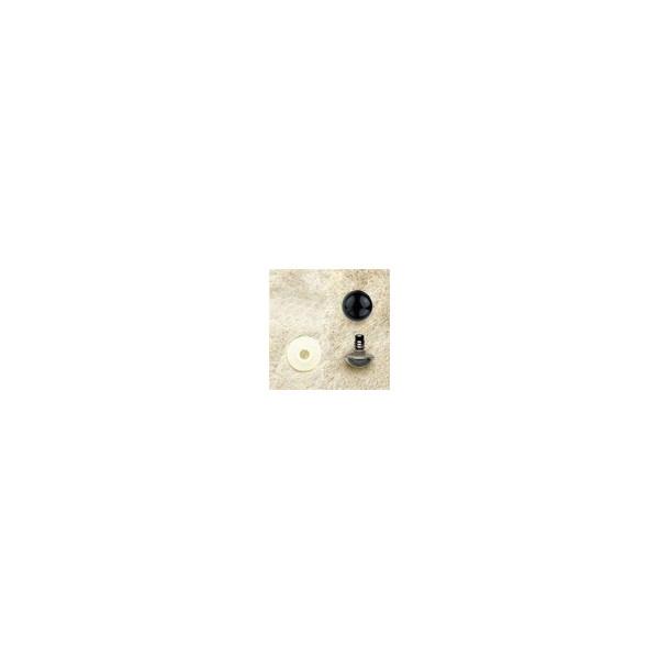 Yeux plastique noir 8mm x2