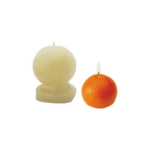 Moule bougie latex - Orange
