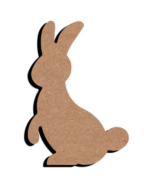 Support bois - Lapin 15cm